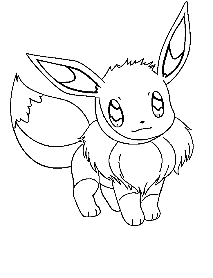 734x958 Pokemon Eevee Coloring Pages