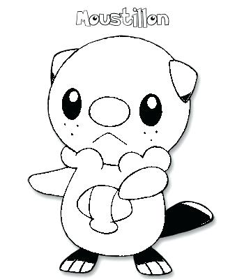 350x400 Coloriage Pachirisu Pokemon