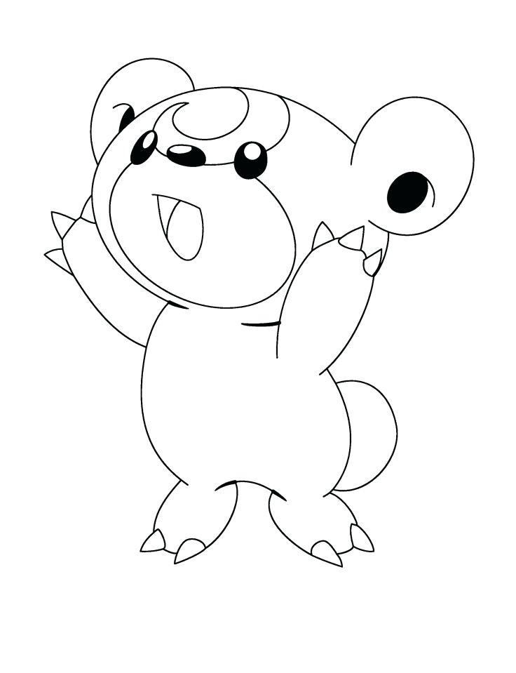 736x959 Pachirisu Coloring Pages