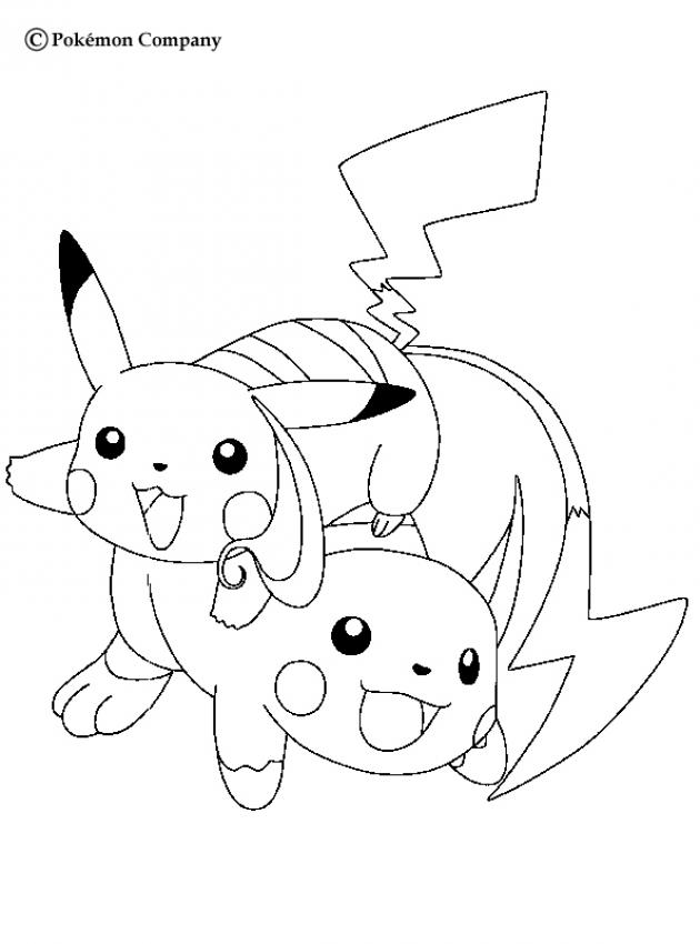 630x850 Electric Pokemon Coloring Pages