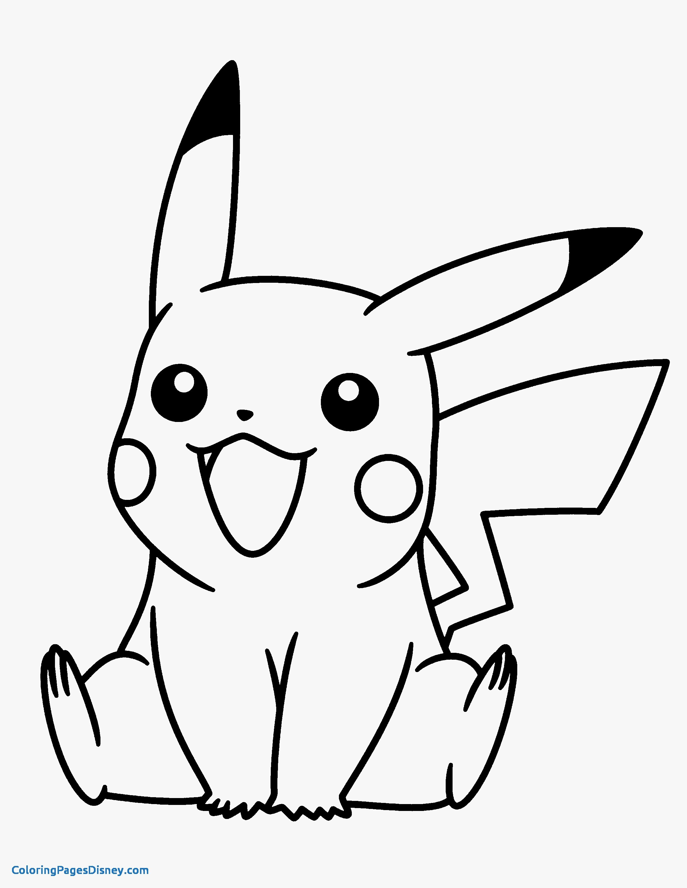 Pokemon Coloring Pages Pikachu At Getdrawings Com Free For