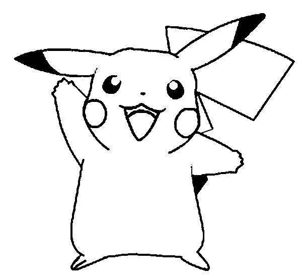 600x553 Free Printable Pikachu Coloring Pages For Kids