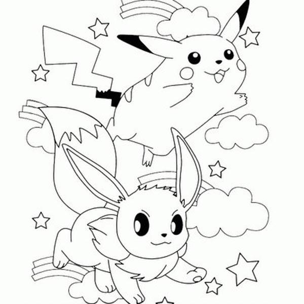600x600 Pikachu Pokemon Coloring Pages