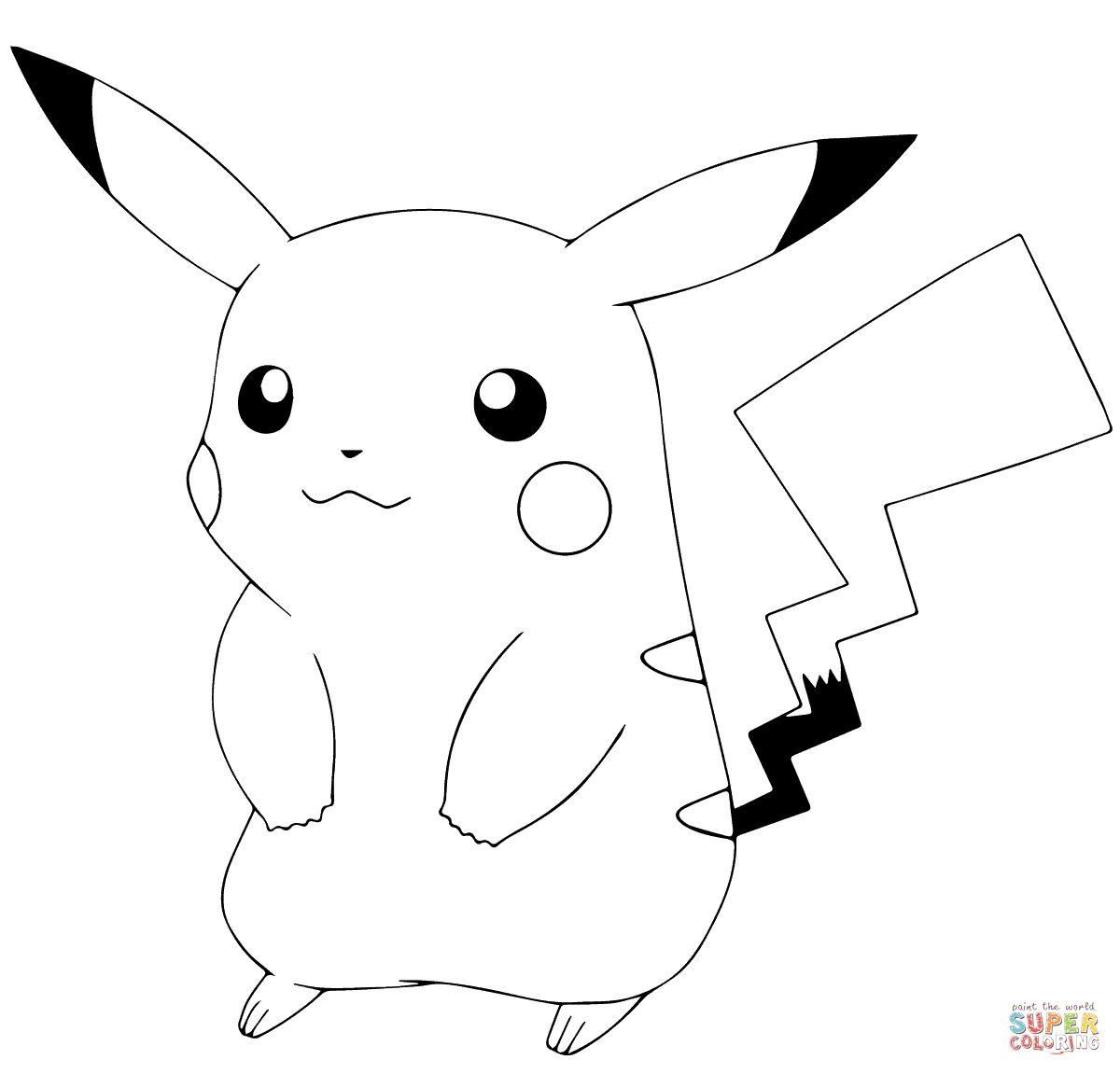 1200x1151 Pokemon Coloring Pages Pikachu
