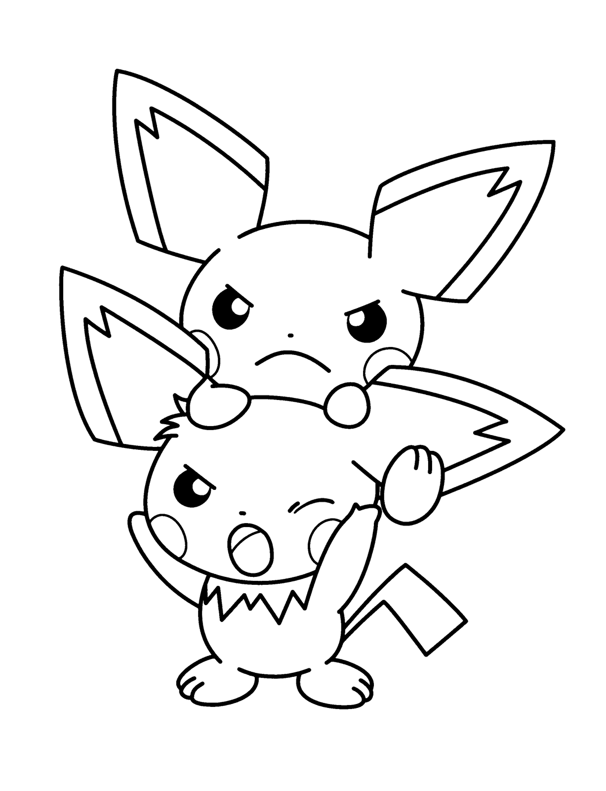 1227x1600 Drawn Pikachu Pokemon Coloring And Pages Ex