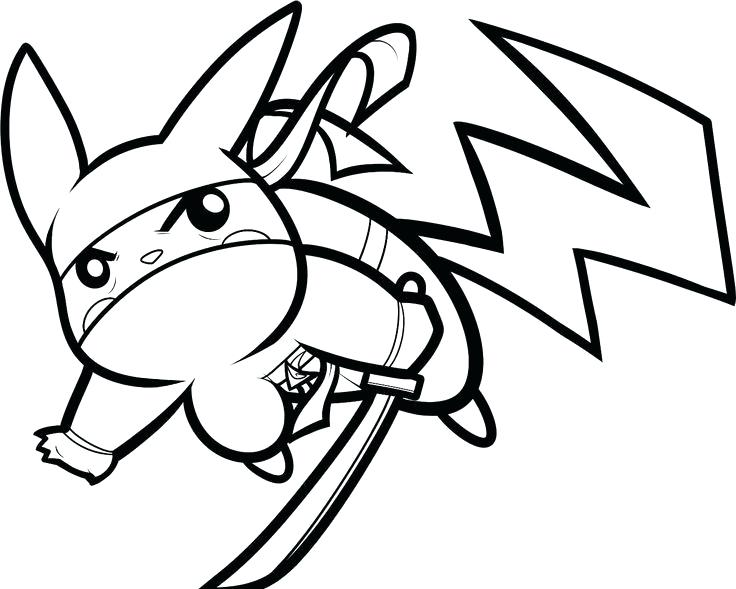 736x589 Pikachu Coloring Pages Coloring Pages Ninja Coloring Page Pikachu