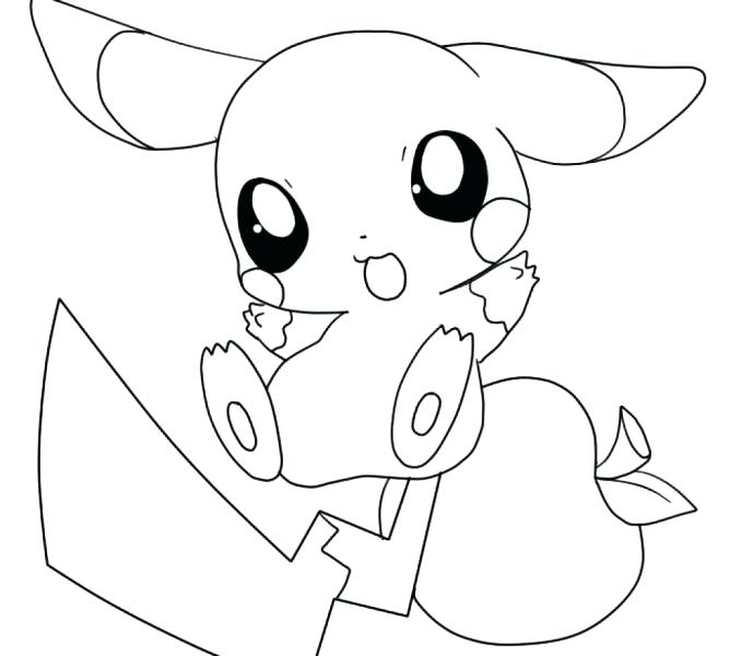 Pokemon Coloring Pages Pikachu Cute at GetDrawings.com ...