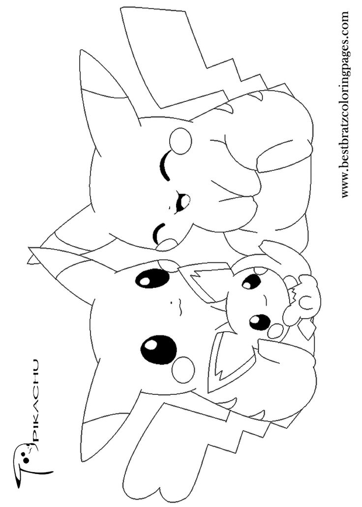 736x1030 Pikachu Coloring Pages