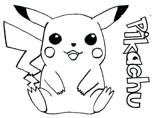 600x463 Coloring Pages Pikachu Coloring Pages Cute Pokemon Coloring Pages