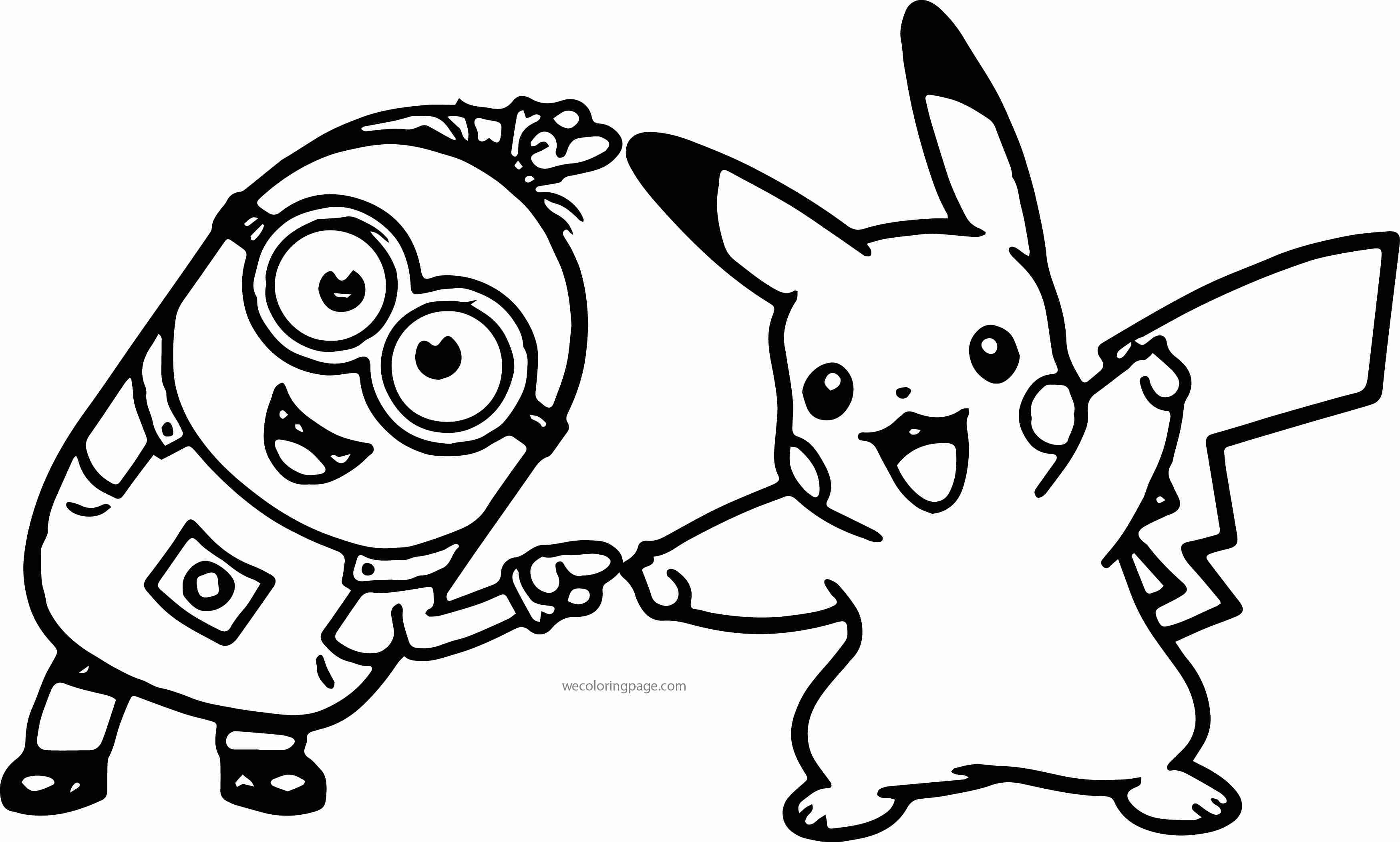 3496x2101 Pikachu And Pichu Coloring Pages