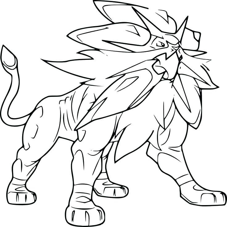 736x736 Pokemon Solgaleo Coloring Pages