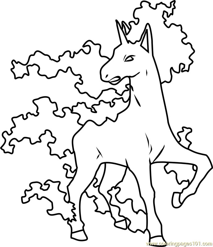 Pokemon Coloring Pages Ponyta At Getdrawings Free Download