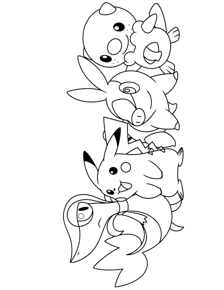 Pokemon Coloring Pages Printable Black And White
