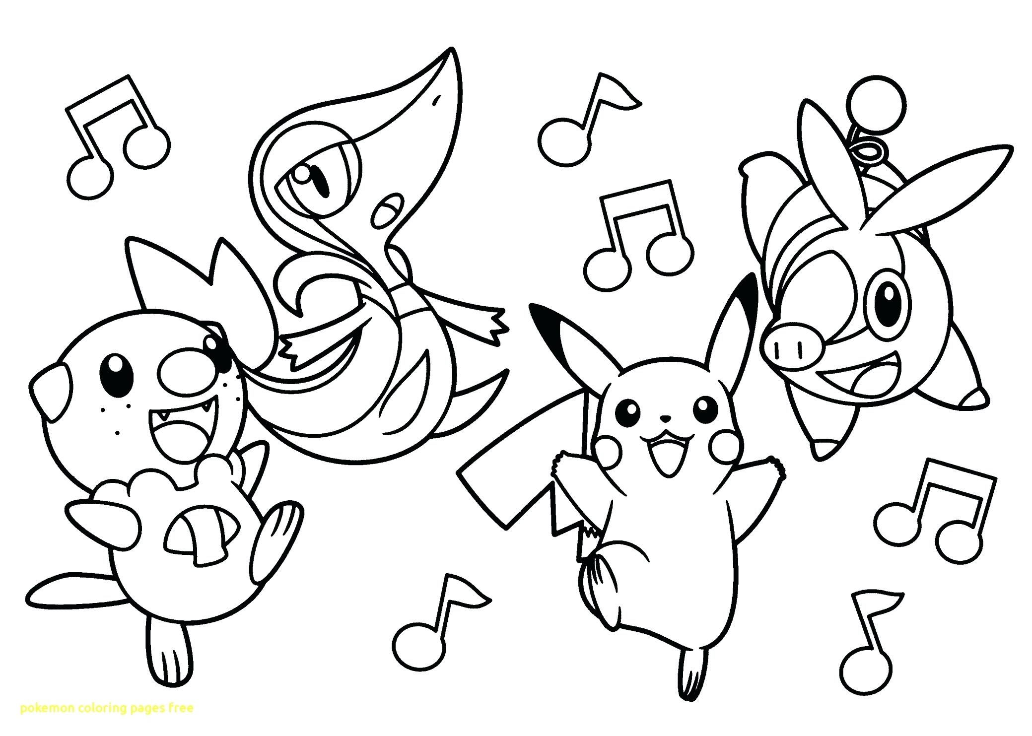 Pokemon Coloring Pages Printable Black And White At Getdrawings Free Download