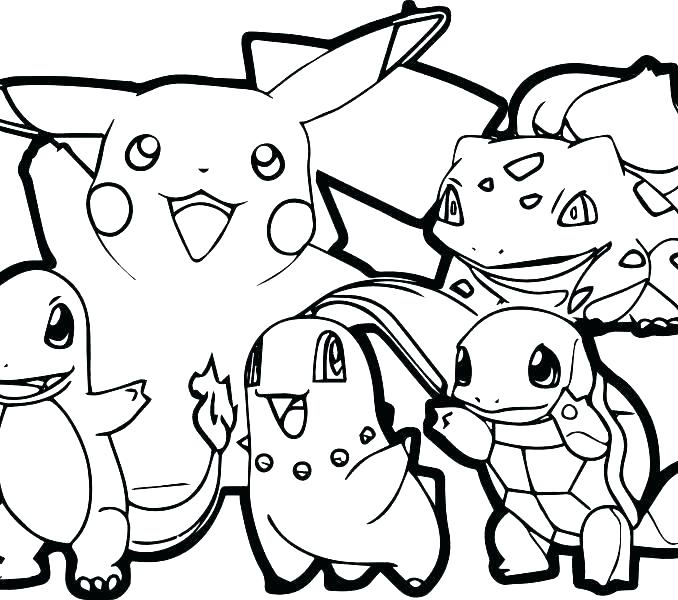 678x600 Pokemon Black And White Coloring Pages Online Printable Sheets