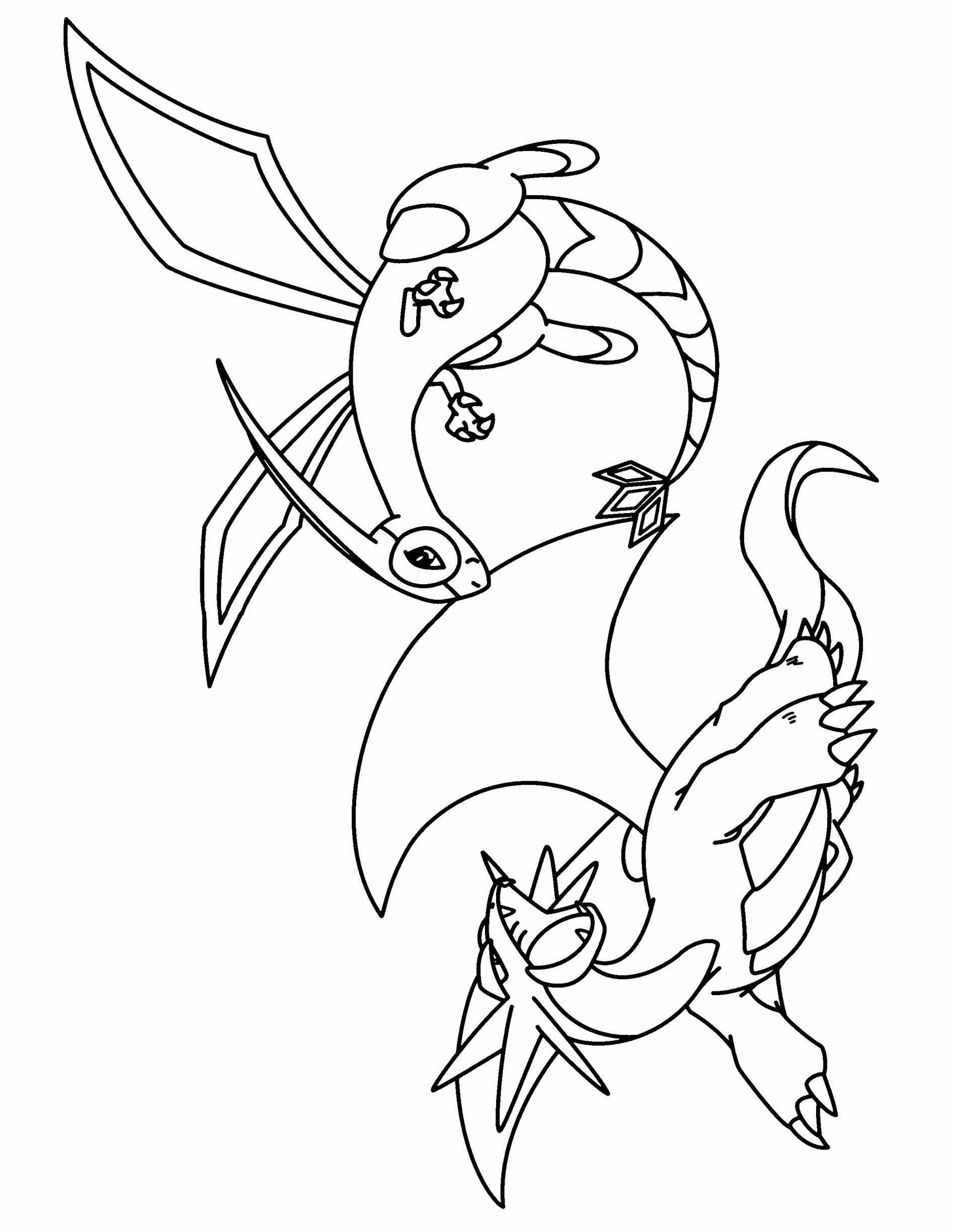 1896x2449 Pokemon Coloring Pages Reshiram Web Coloring Pages