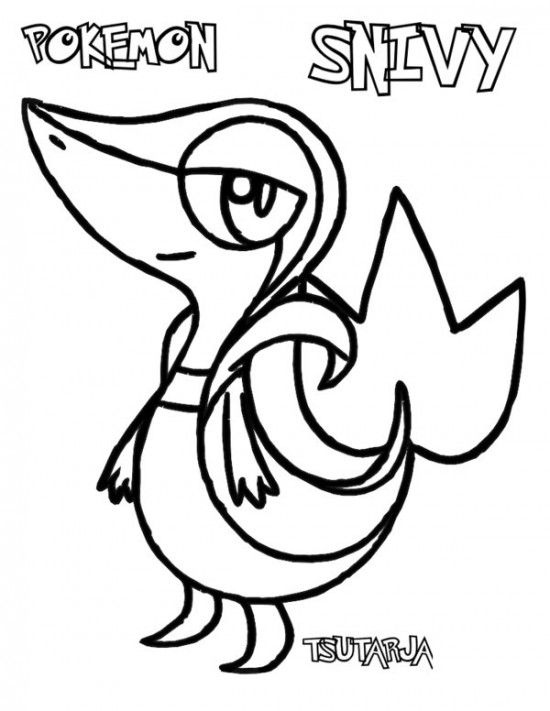 550x711 Pokemon Snivy Coloring Pages Pokemon Coloring Pages