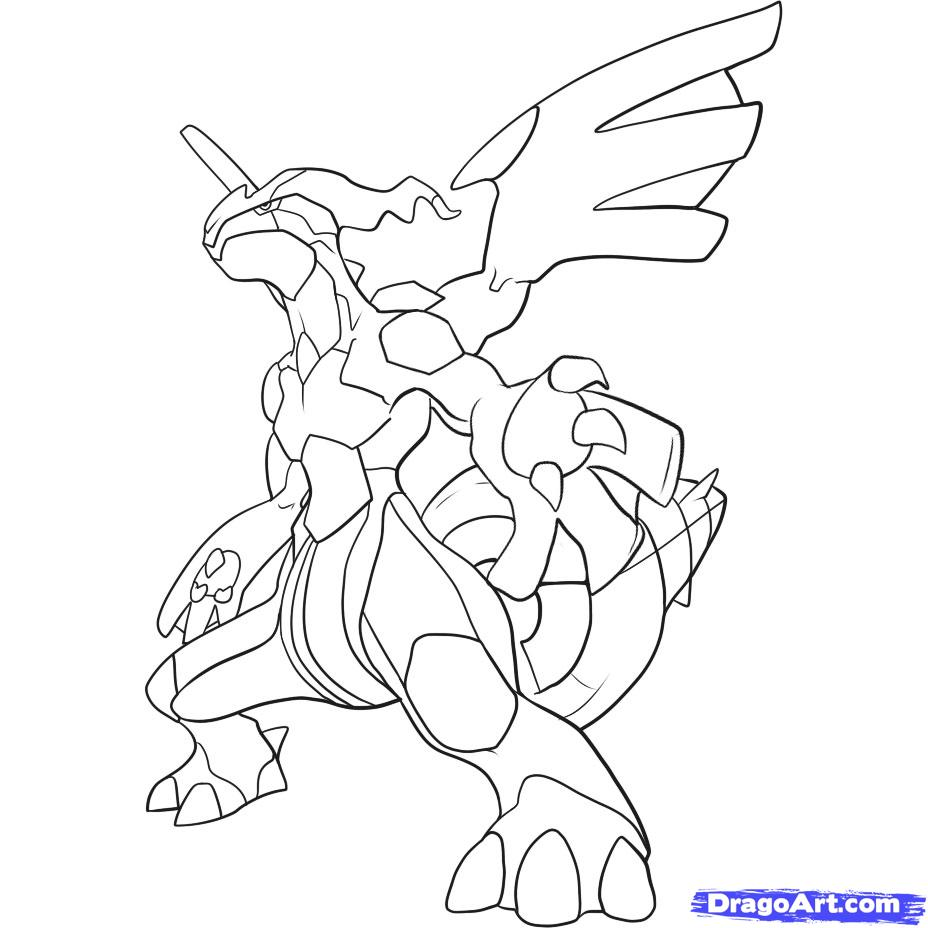 928x928 Terrific Pokemon Coloring Pages Black And White Zekrom