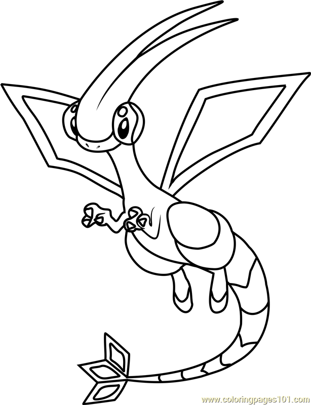 614x800 Flygon Pokemon Coloring Page