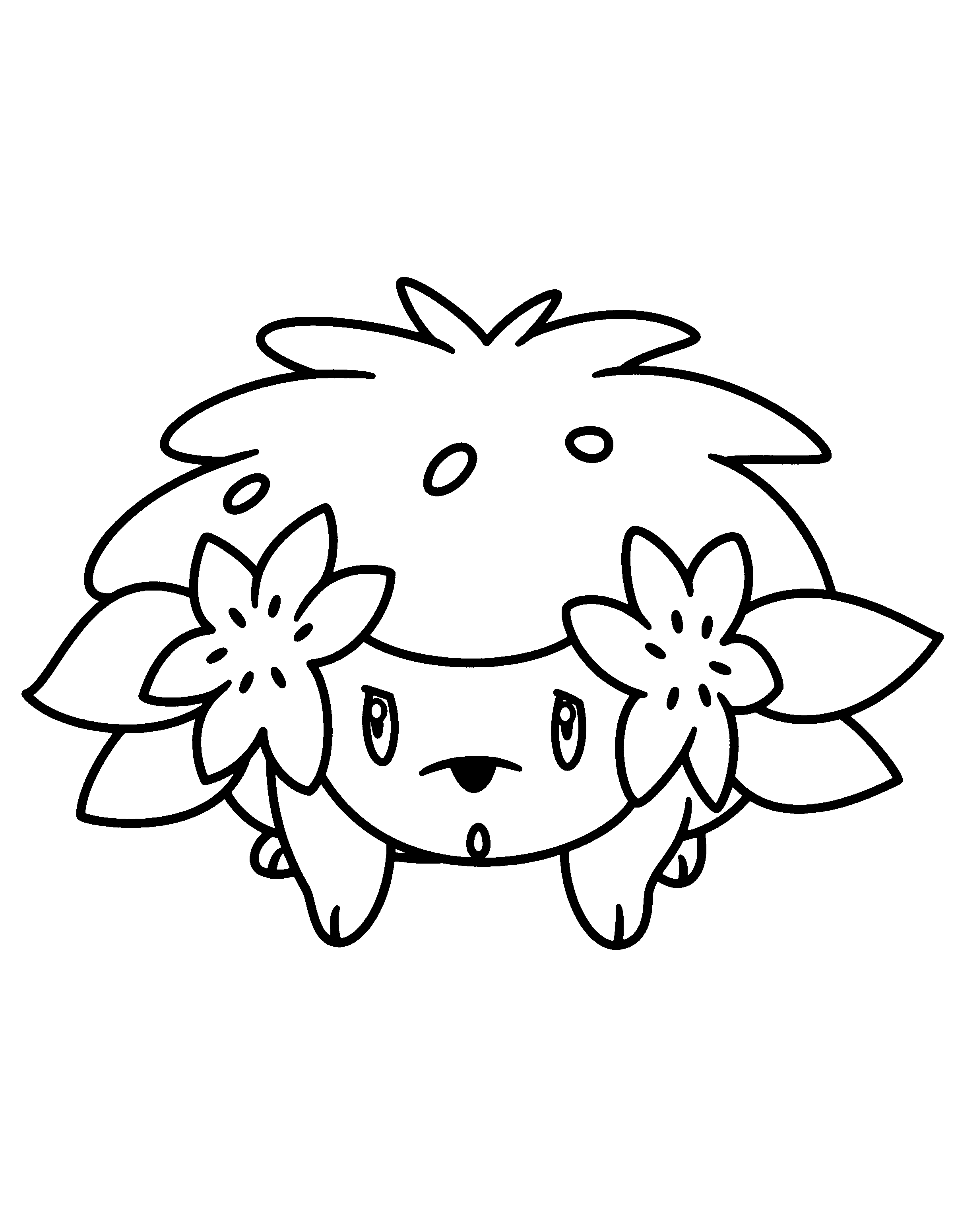 Kleurplaten Pokemon Mega.Pokemon Coloring Pages Shaymin At Getdrawings Com Free For