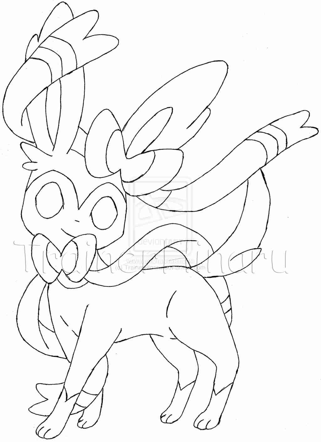 Pokemon Coloring Pages Sylveon At Getdrawings Com Free For