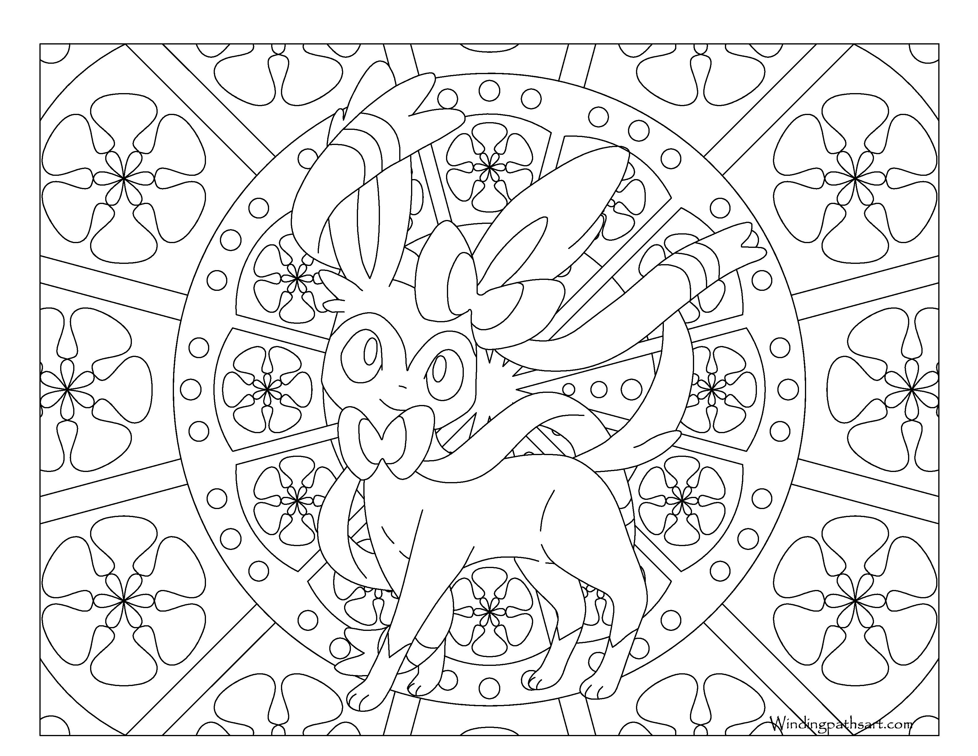 Pokemon Coloring Pages Sylveon At Getdrawings Free Download