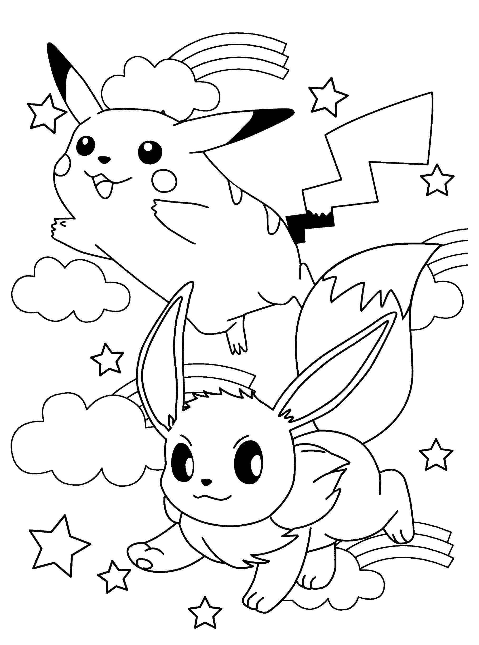 1817x2449 Download Pokemon Coloring Pages Sylveon Also All Eevee Evolutions