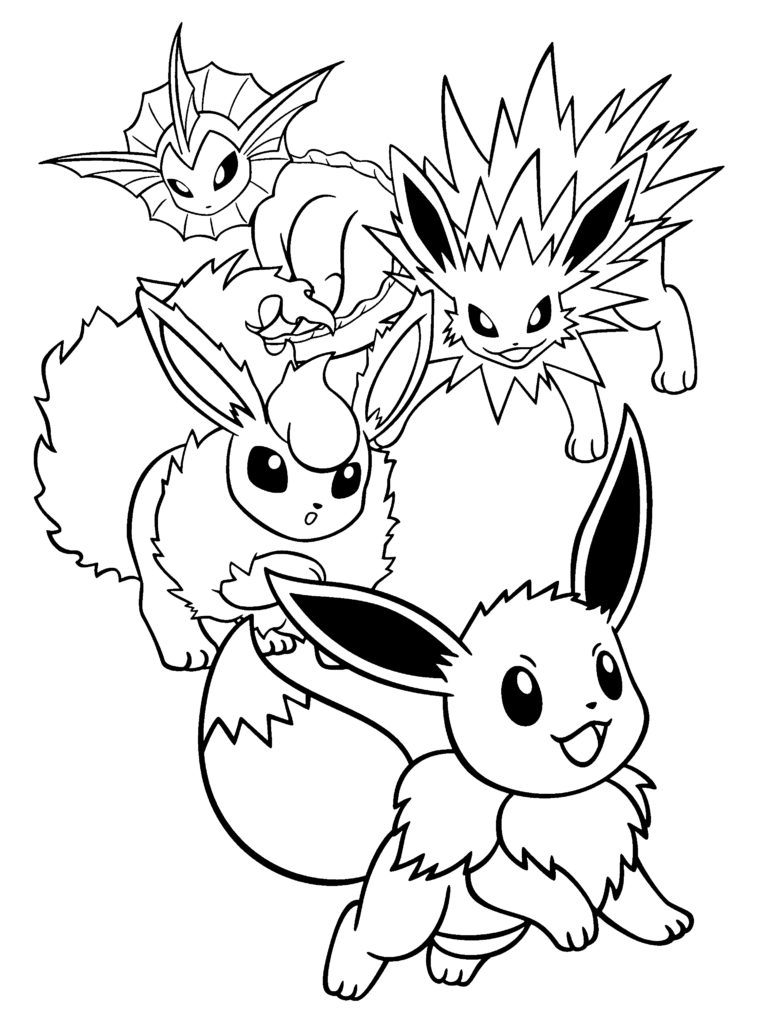 760x1024 Pokemon Coloring Pages Flareon