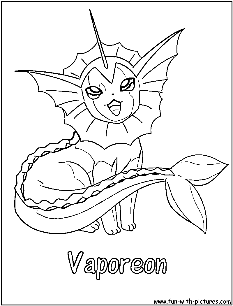 800x1050 Pokemon Vaporeon Coloring Pages