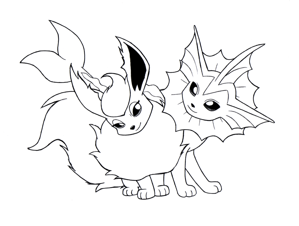 1024x775 Pokemon Vaporeon Coloring Pages