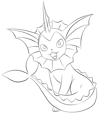 442x480 Vaporeon Coloring Page Coloring Pages Pokemon