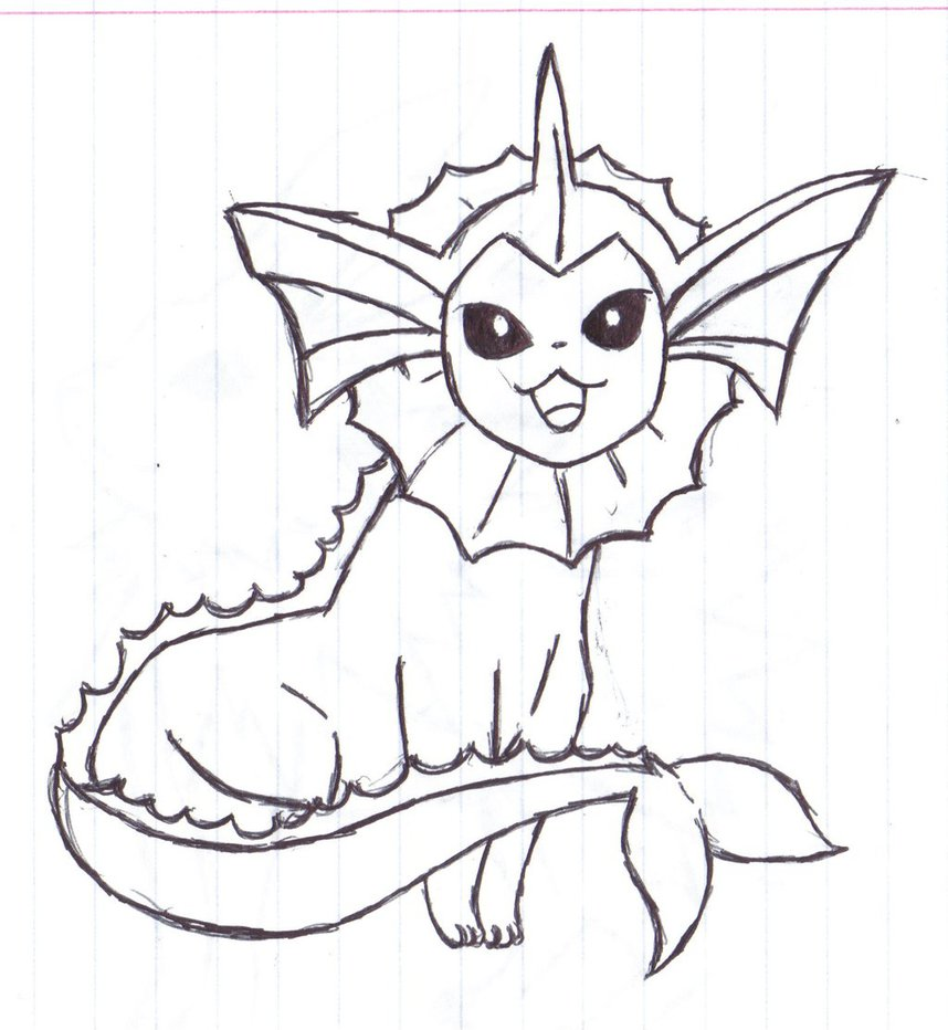 858x932 Best Vaporeon Pokemon Coloring Pages Newyork R
