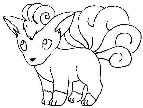 582x439 From Coloring Page Free Coloring Pages Online Pokemon Vulpix