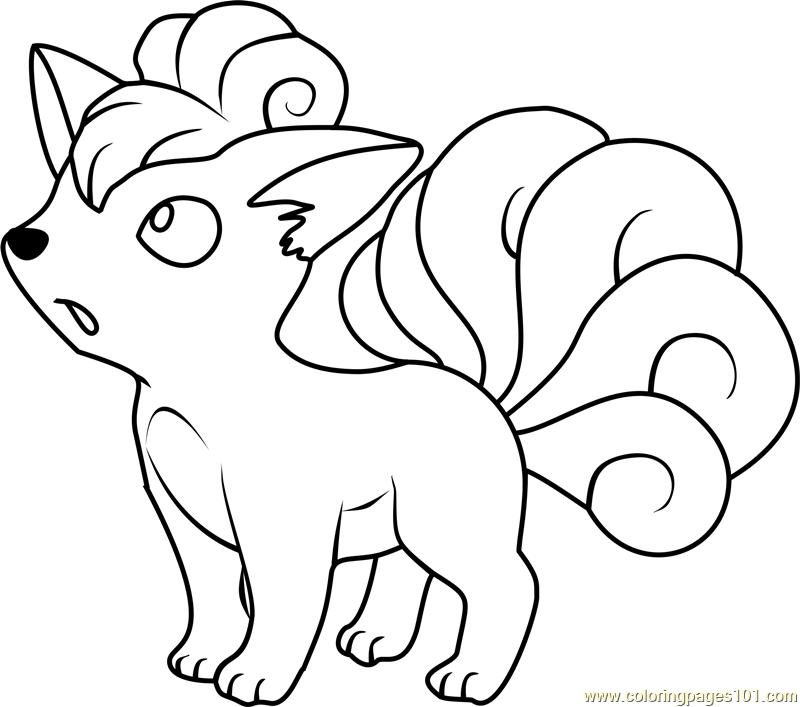 800x707 Vulpix Pokemon Coloring Page