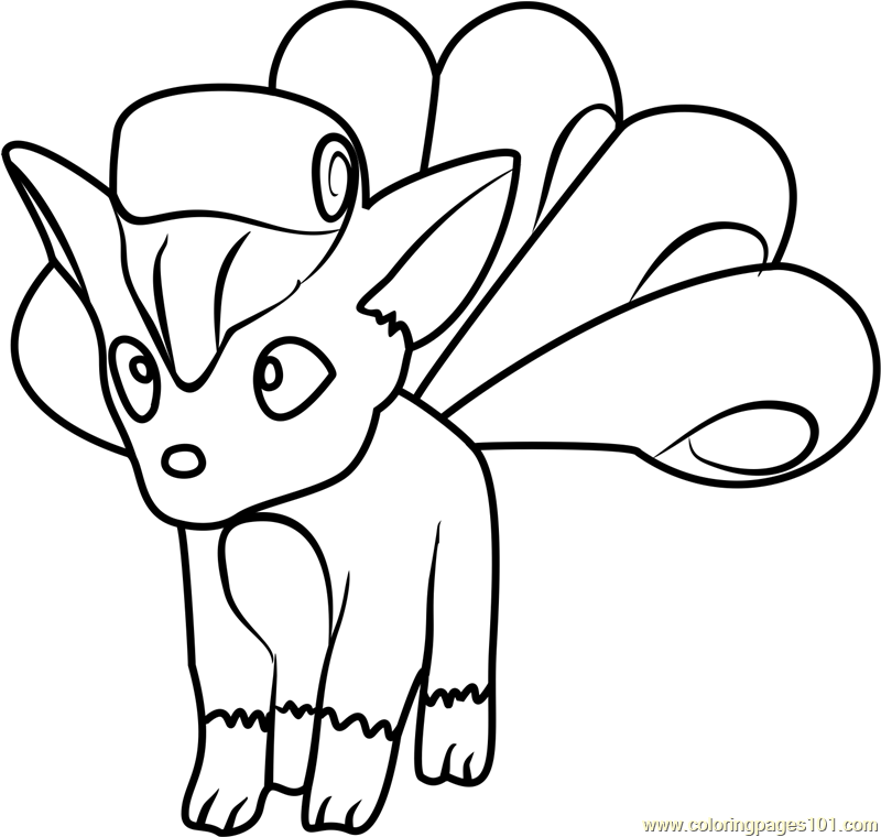 800x760 Vulpix Pokemon Go Coloring Page