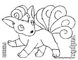 255x197 Transmissionpress Cartoon Pokemon Vulpix Colorig Pages