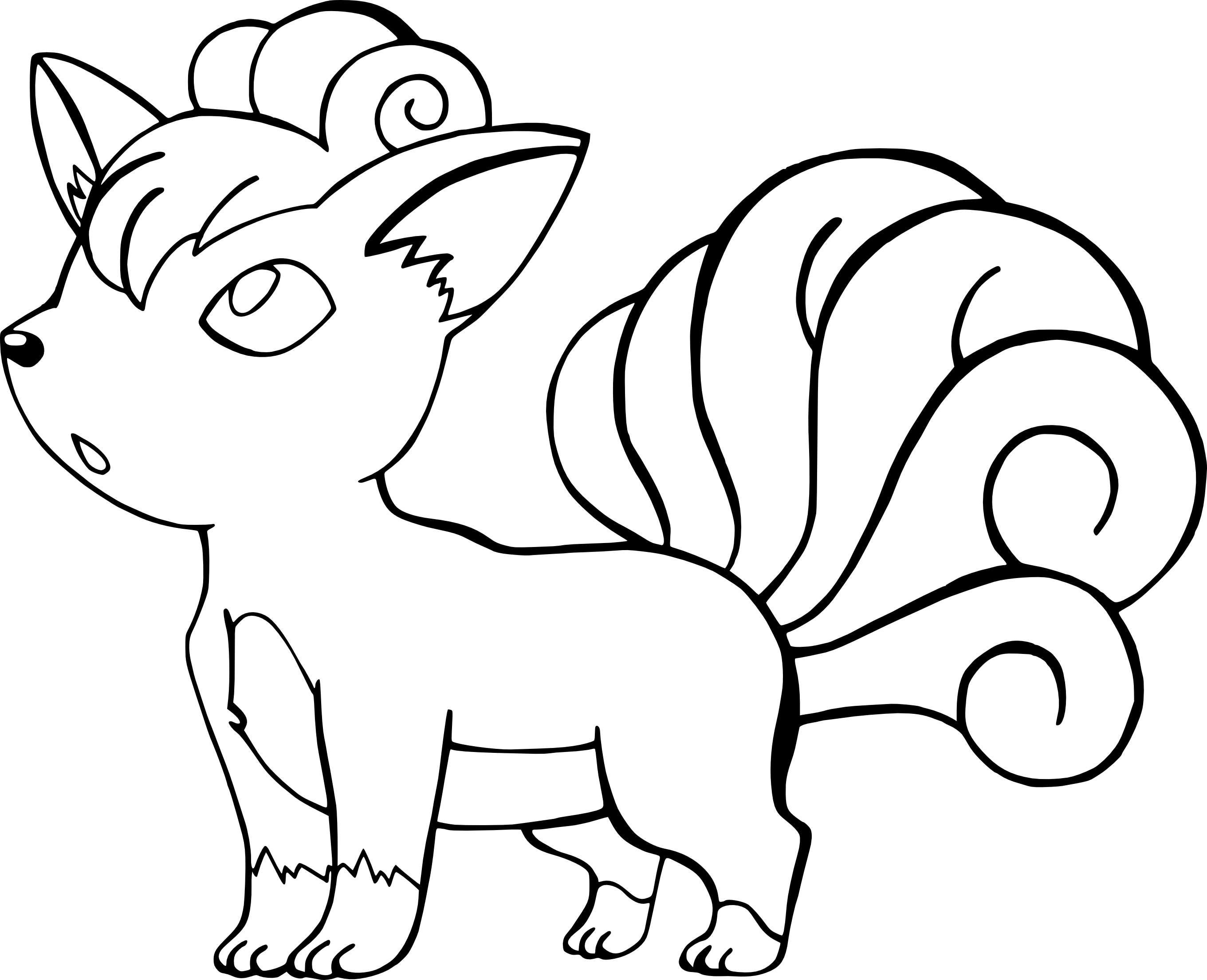2721x2209 Coloring Page Vulpix In The Alola Region Ice Type Pokemon