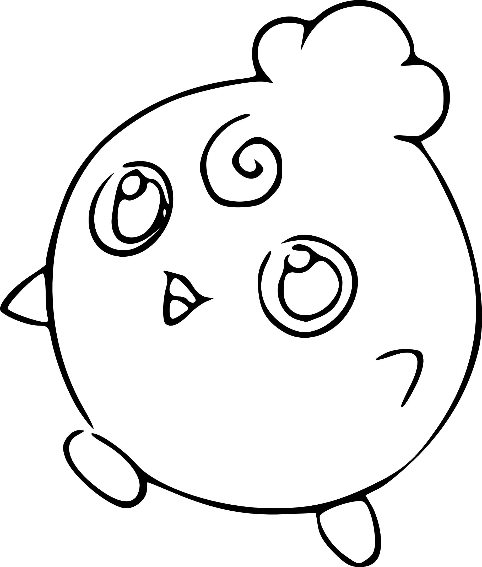 1839x2163 Igglybuff Pokemon Coloring Page