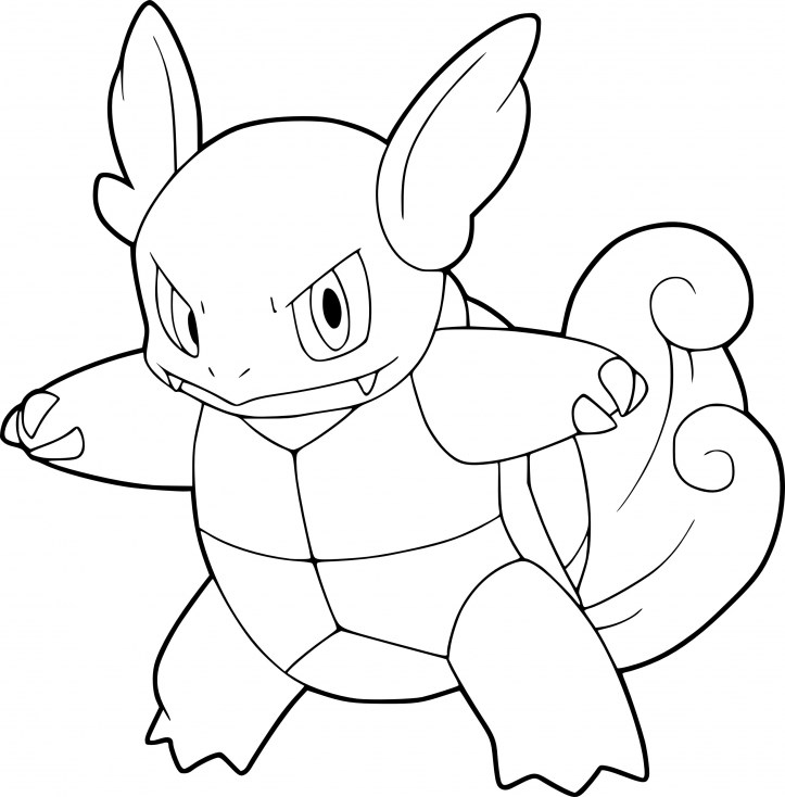 723x734 Pokemon Coloring Pages Wartortle