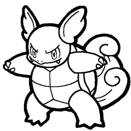 445x445 Wartortle Coloring Page Coloring Book
