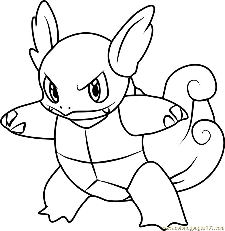 780x800 Wartortle Pokemon Coloring Page
