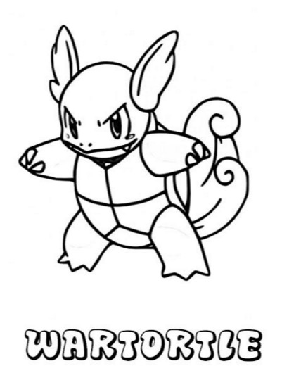 401x547 Wartortle Pokemon Coloring Page Coloring Book