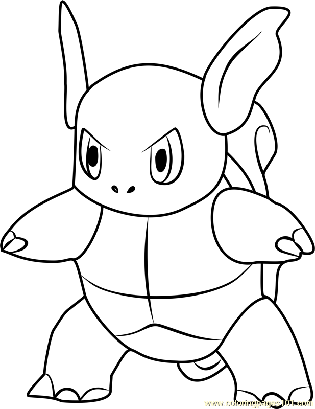 617x800 Wartortle Pokemon Go Coloring Page