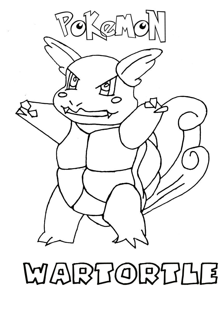 848x1200 Wartortle Pokemon Coloring Page