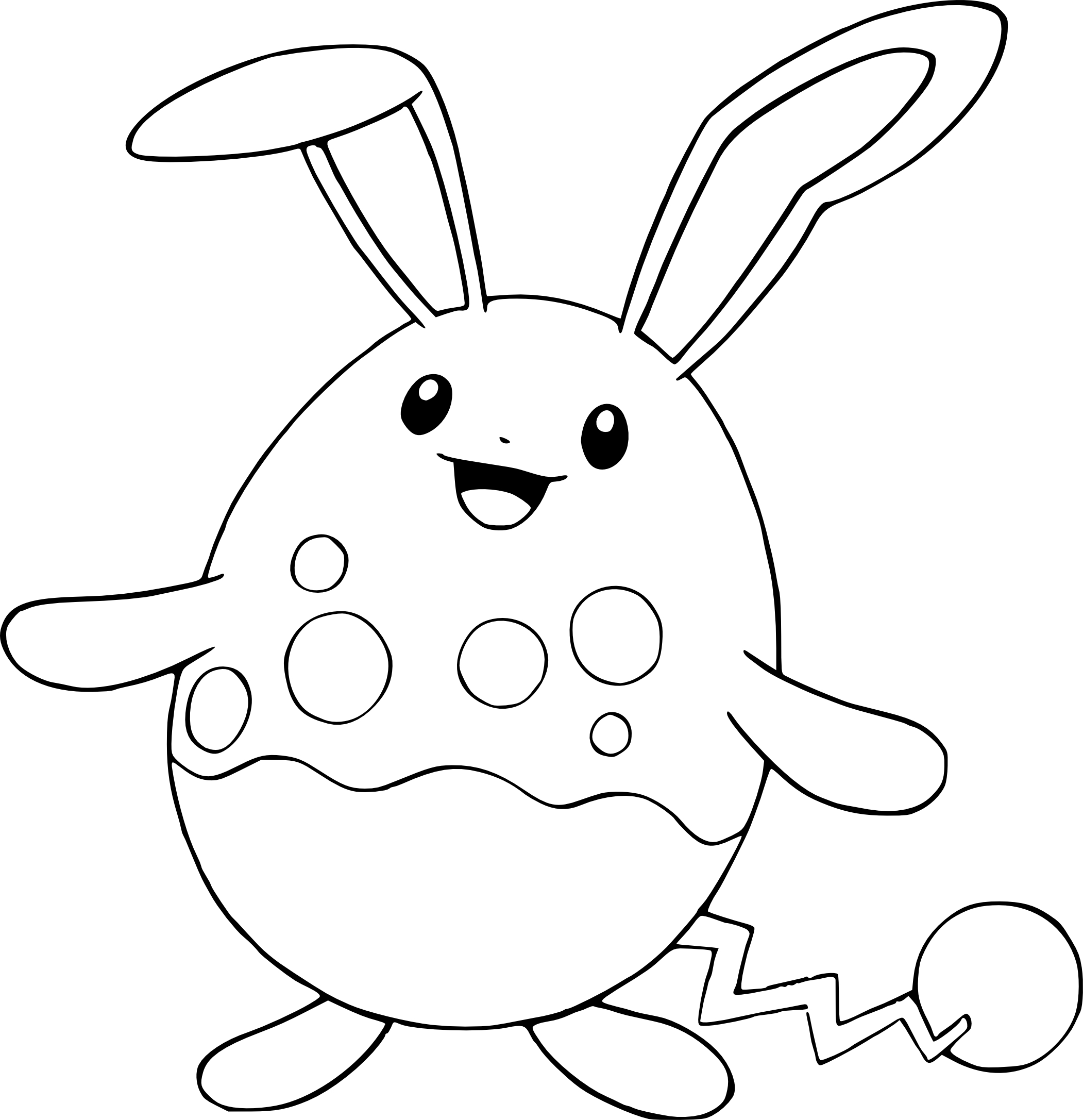 2102x2173 Azumarill Pokemon Coloring Page