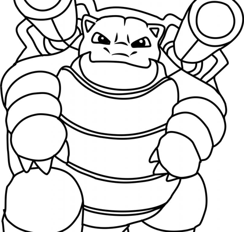 809x768 Blastoise Coloring Page Cartoon Pokemon Pages Cartoons Sheets Mega