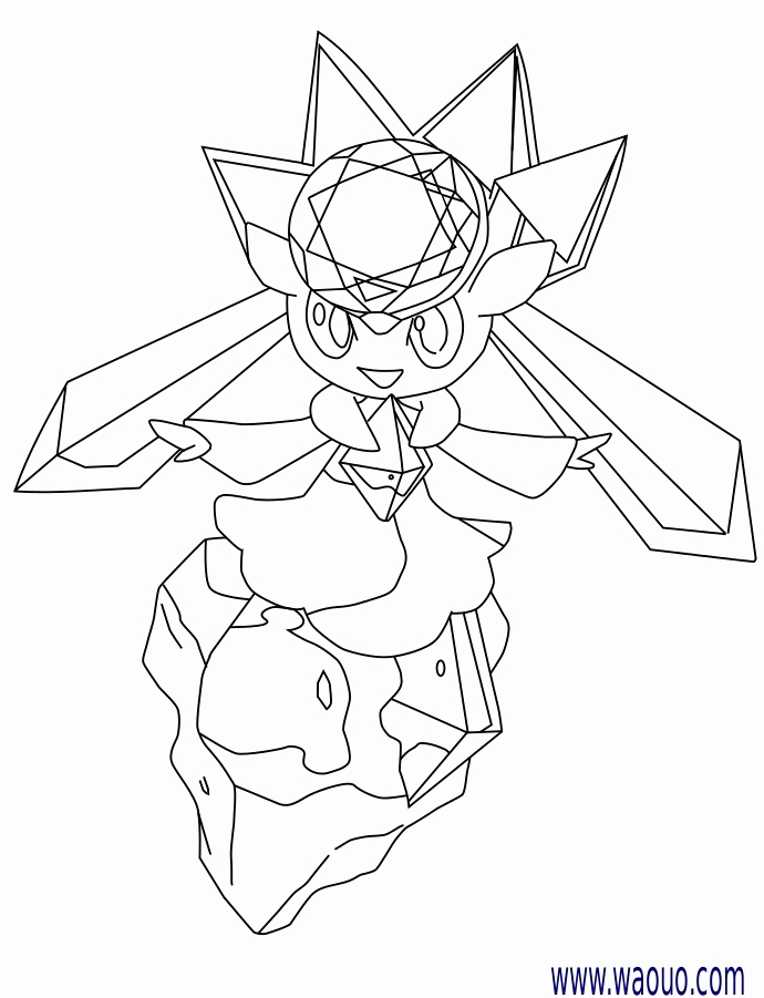 690x901 New Of Mega Diancie Coloring Pages Images