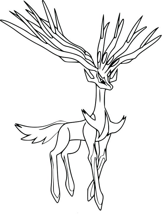 548x734 Pokemon Coloring Pages Xerneas Coloring Pages For Adults Only