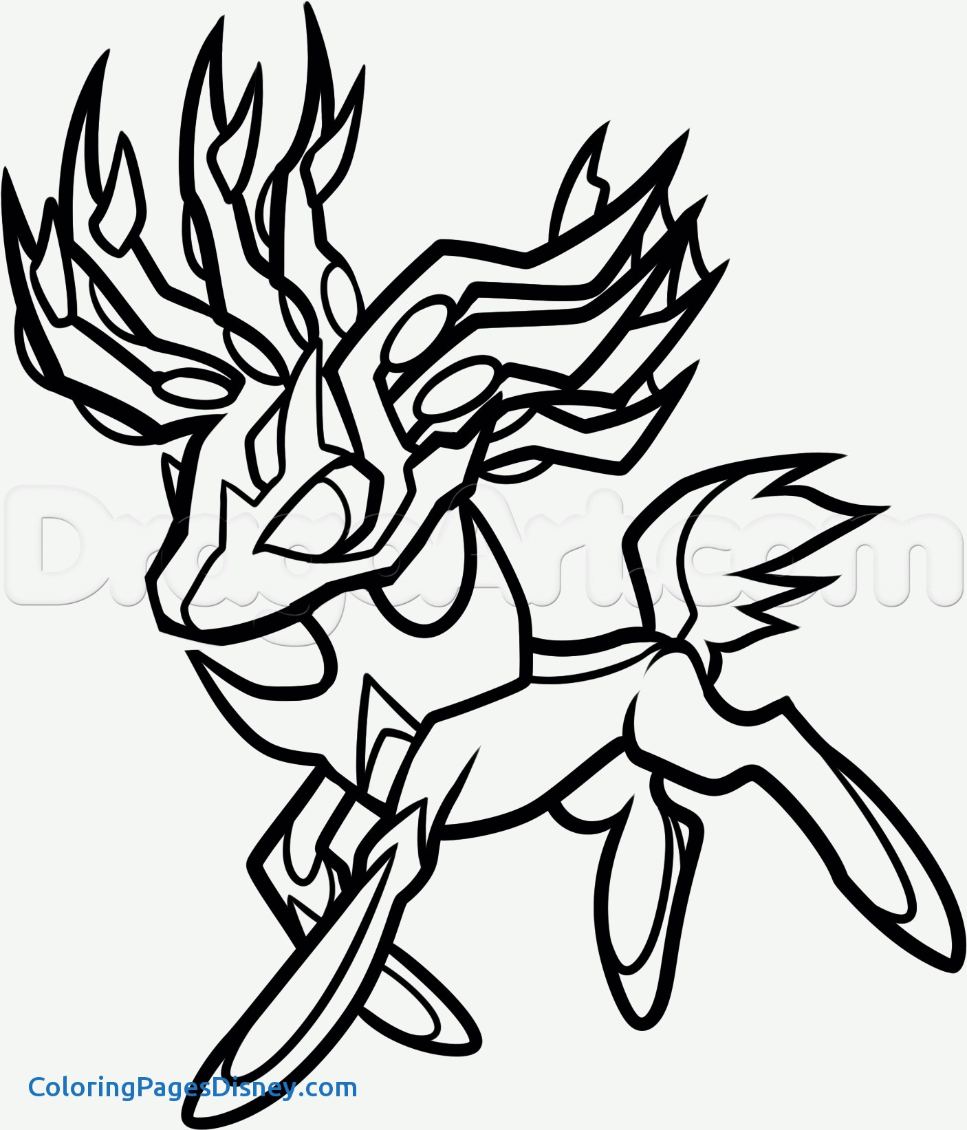 1406x1643 Pokemon Coloring Pages Xerneas Unique Xerneas Coloring Page