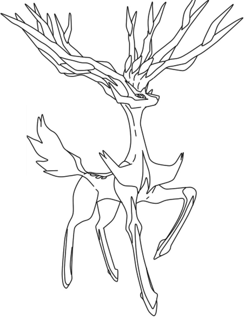 782x1022 Best Free Xerneas Coloring Pages Image